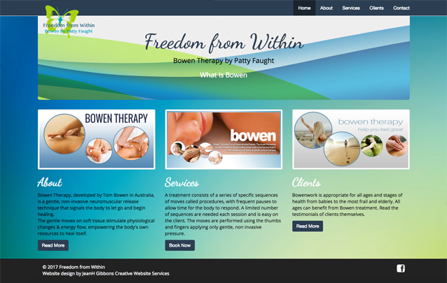 Freedom from Within website